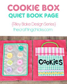 Riley Blake Designs -- Cutting Corners: Cookie Box Quiet Book Page