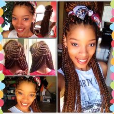 Crochet Box Braids Install : Crochet Box Braids.! First attempt, installed by @Sommer Payne More