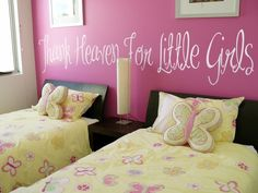 Cute room idea for the future... love my little girls!