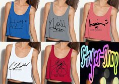 One Direction Colored Signature Tank by StylesShop on Etsy, $25.50