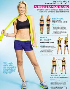 Bicep Curl, Tricep Extension, and Lateral Raise w/ a Resistance Band  + Cardio Workout - Define Your UPPER BODY w/ a Resistance Band