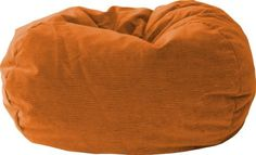 """Fashion Medium Corduroy Bean Bag Chair The Medium/Tween Bean Bag is Sturdy, Double Stitched, and a Child Safe Zipper. Amigo Suede in Orange Corduroy. 105"""" Circumference (L28"""" x W28"""" x H19""""). Ideal for Gaming, Studying, Watching TV, or just Kickin'. At just 7 lbs, it's Easy to Move from Room to Room"""
