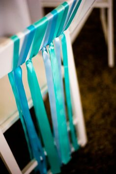 ribbons on chairs