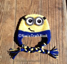 Despicable Me Minion Crochet Hat Child Size Made to Order on Etsy, $20.00