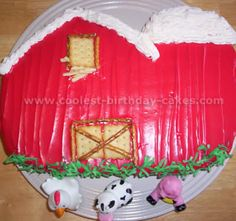 Barnyard Birthday Cake Photo