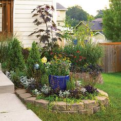 Better Homes  Garden  Here's another example of what a difference you can make in just a weekend. The first step was incorporating lots of compost into the soil to recharge it -- then the fun part: the planting!
