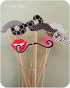 DIY Photo booth... Love these Mustaches