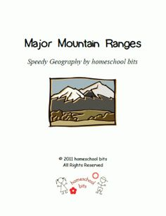 Speedy Geography: Major Mountain Ranges