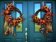 Bountiful Harvest Wreath Fall/Autumn Grapevine by DitzyDesign