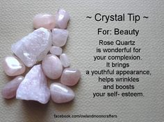 Crystals & Stones:  #Crystal #Tip ~ For #Beauty.