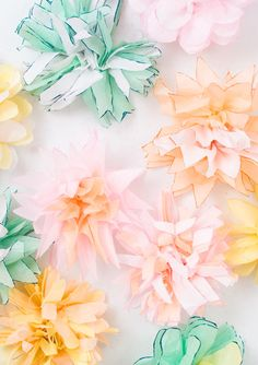 DIY Tissue Flower Garland