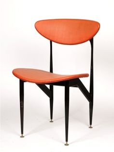 Grant Featherston; Painted Metal Frame Dining Chair for Aristoc Industries, 1950s.