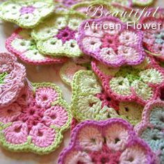 free, african flower crochet pattern