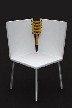 Corset Chair & Side Table by Baita Design