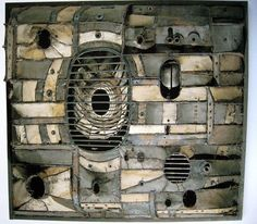 Lee Bontecou. I love the locks and parts she uses here