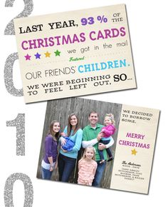 "@Modern Eve 2010 Christmas Card ""Family Christmas Photo"""