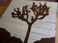 great use of leftover laminate flooring!