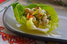 fresh ceviche with chili limon tortilla popchips #football #tailgating #party #recipe
