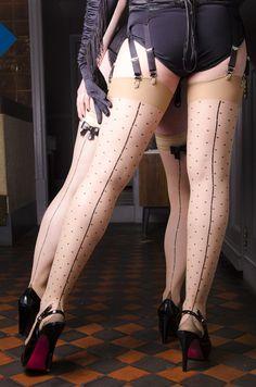 Burlesque inspired backseam stockings!