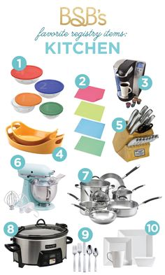 Wedding Gift List Must Haves : Cookware, Wedding Registry List, Registry Items, Gift Registry, Must ...