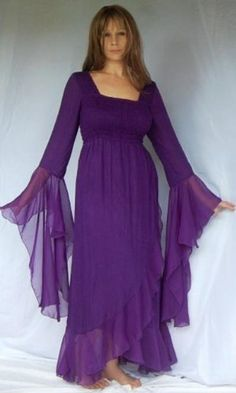 PURPLE DRESS WRAP CHIFFON – FITS (ONE SIZE) – « Dress Adds Everyday