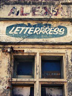 letterpress signage