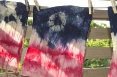 DIY Dyed July 4th Tote Bags | Rit Fabric Dye Clothing Dyeing
