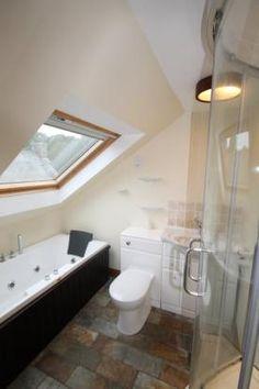 Bathrooms on pinterest attic bathroom small shower room for Bathroom design under eaves