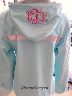 Monogrammed Rain Jacket!