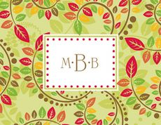 Autumn Leaves Foldover Note Cards #StationeryStudio