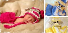 Adorable Handmade Sock Monkey Hat & Diaper Cover Set at VeryJane.com