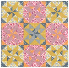 "From the book Large-Block Quilts: ""Quaint"" quilt by Victoria Eapen"