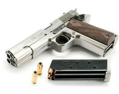 Double Barrel hand gun!  Awesome!