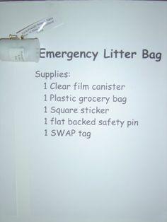 Emergency Litter Bag swap -   Yup, I made that!: Girl Scout Swap A Rama