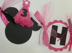 Minnie Mouse Birthday Banner DIY idea