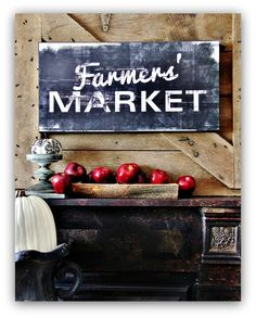 farmhouse signs, country kitchen signs, farmer market, country kitchen decorating, red farmhouse kitchen, vintage kitchen sign, farmhouse decorating ideas, farmers market signs, farmer's market sign
