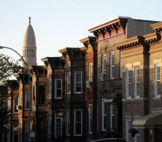 Sunset Park. rooflines brownston, sunsets, place call, nyc, sunset park