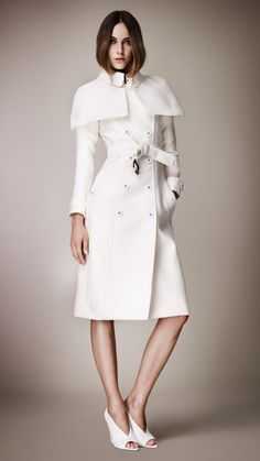 "Burberry Prorsum Double Dunchess Satin Caped Trench Coat (Spring 2013). From Episode 301 ""It's Handled"""