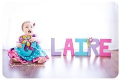 name letters pose baby photography