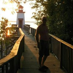 Grand Rivers Ky - At Lighthouse Landing Resort & Marina you can walk on the walk way to view the beautiful lake.   If you get tired you can sit on benches and just enjoy the lake.