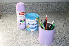 Formula can + Spray Paint = Pen holder