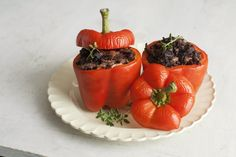 Japonica, Shiitake and Chicken Stuffed Peppers