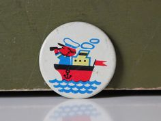 Very lovely sailor's badge from USSR, 70s. $4.50, via Etsy.