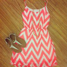 Neon Chevron Dress<3