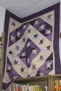 Buggy Barn Purple Star Quilt  are these pointless wonder stars?