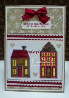 STAMPIN' UP! HOLIDAY HOME SNEAK PEEK - PART 1