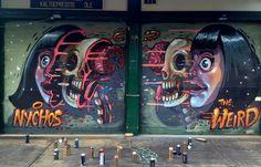 Nychos New Mural In Vienna, Austria StreetArtNews