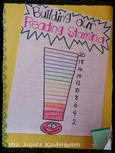 Tips for building reading stamina in Kindergarten!  WOW... This blog hop has TONS of amazing ideas I can use right now! BOOKMARK