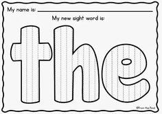 Preschool Sight Words on Pinterest   Sight Words, Sight Word Practice ...
