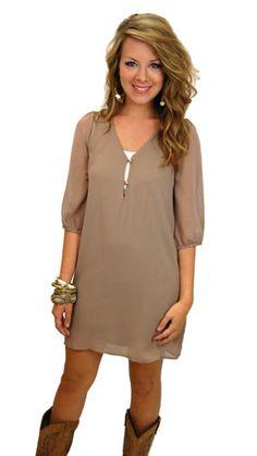 Morgan Dress, Taupe